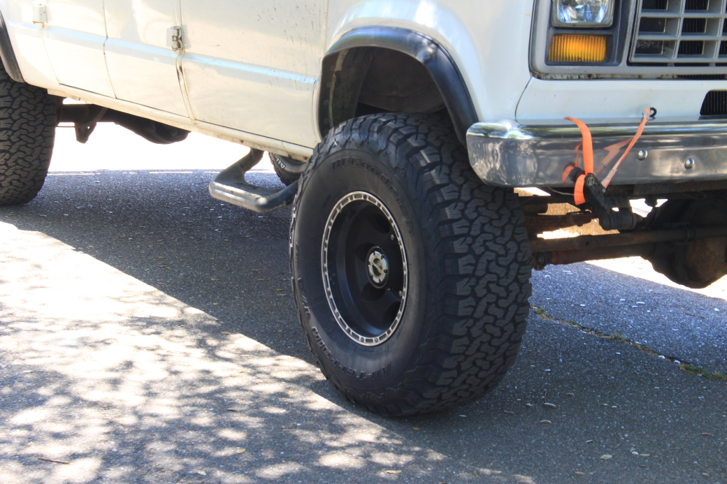 New 35 inch tires on the 4x4 van