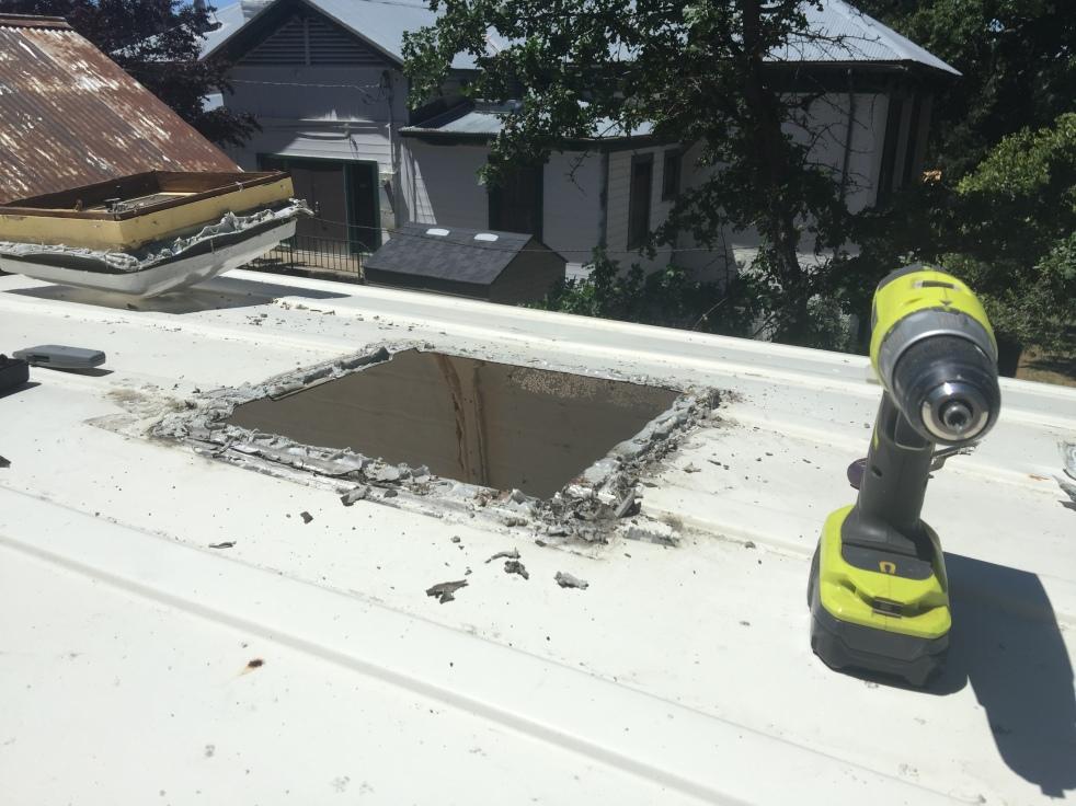 hole in van roof
