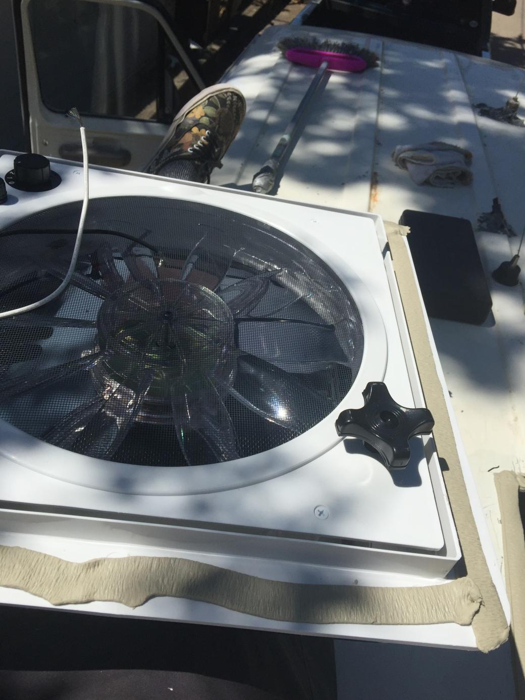 butyl tape on fan