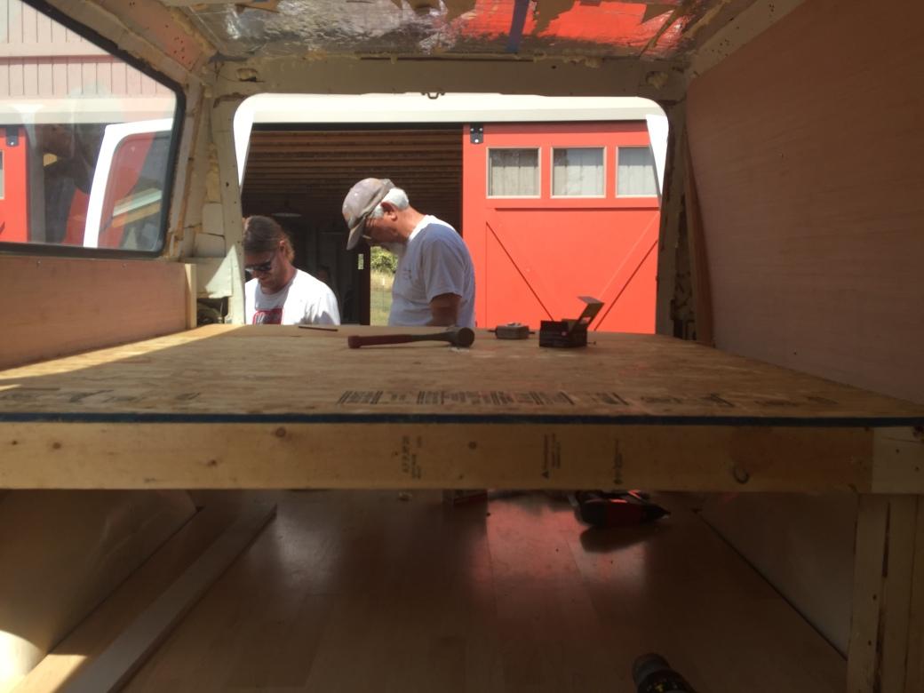bed build in van
