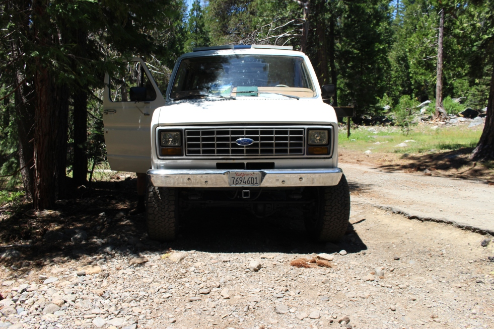 Van at Entrance to Rubicon Trail