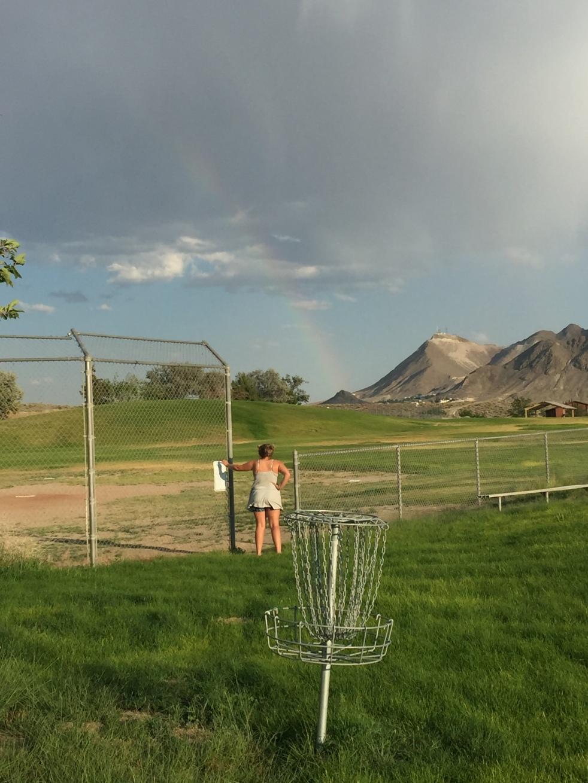 Disc Golf rainbow