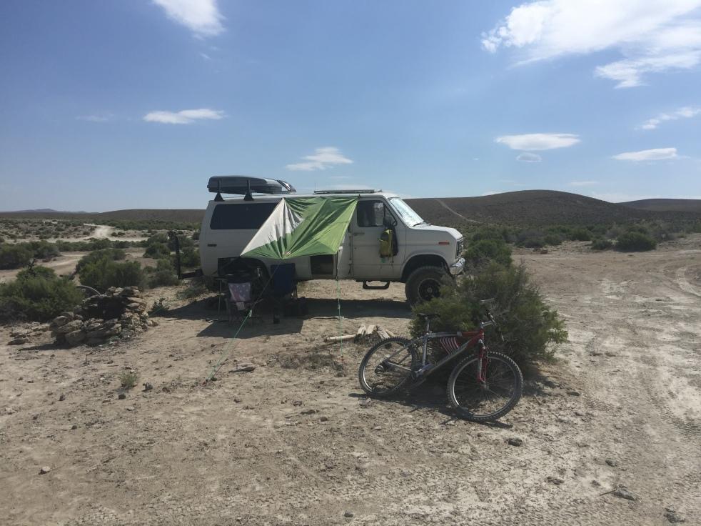 Camp van setup