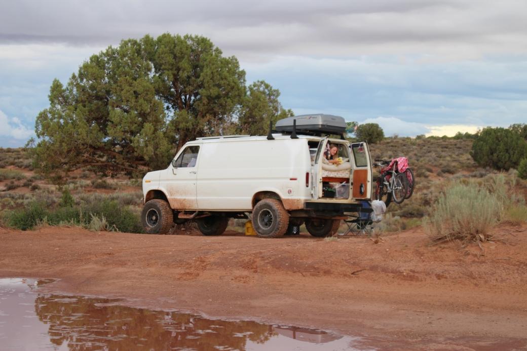 4x4 van in action