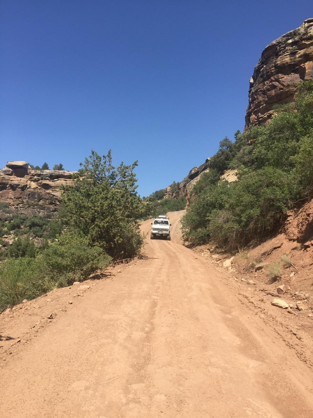 Van on the mesa