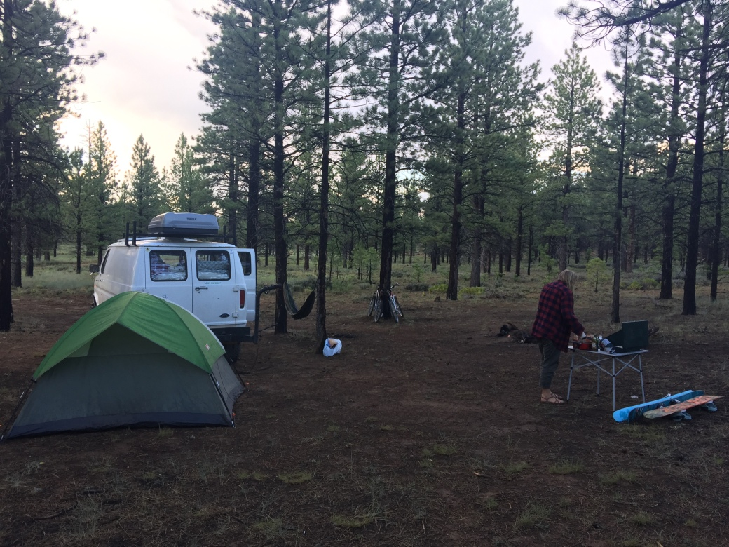 Camping outside Bryce