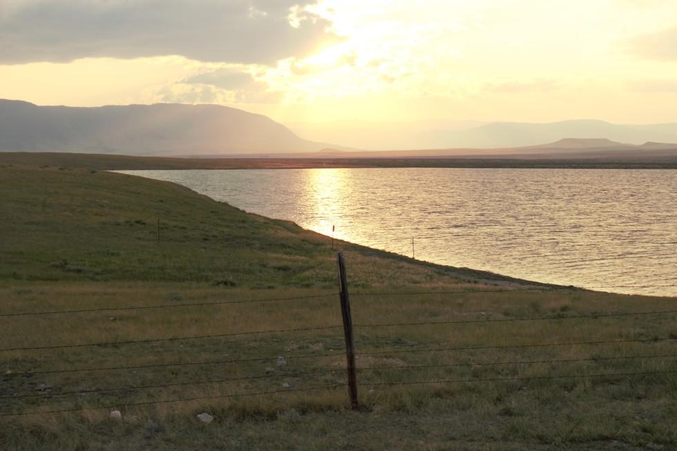 Beautiful sunset on Gelatt Lake